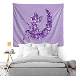 Artistic Wall Tapestry | Susie Kunzelman - Fairy Moon I Purple