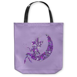 Unique Shoulder Bag Tote Bags | Susie Kunzelman - Fairy Moon I Purple