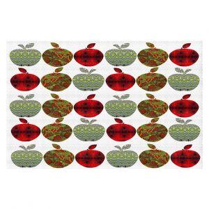 Decorative Floor Covering Mats | Susie Kunzelman - Farm Apples | fruit pattern repetition
