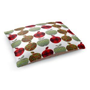 Decorative Dog Pet Beds | Susie Kunzelman - Farm Apples | fruit pattern repetition