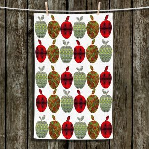 Unique Bathroom Towels | Susie Kunzelman - Farm Apples | fruit pattern repetition