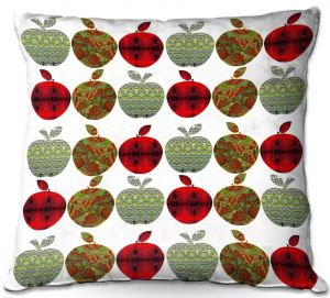 Throw Pillows Decorative Artistic | Susie Kunzelman - Farm Apples | fruit pattern repetition