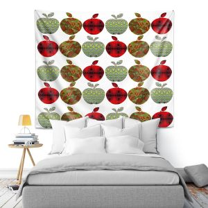 Artistic Wall Tapestry | Susie Kunzelman - Farm Apples | fruit pattern repetition