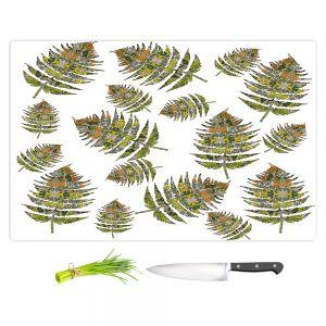 Artistic Kitchen Bar Cutting Boards | Susie Kunzelman - Fern 2 Greens | leaves nature