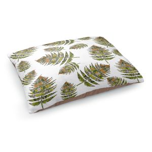 Decorative Dog Pet Beds | Susie Kunzelman - Fern 2 Greens | leaves nature