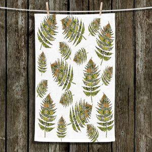 Unique Hanging Tea Towels | Susie Kunzelman - Fern 2 Greens | leaves nature