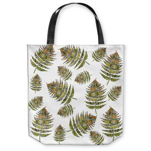 Unique Shoulder Bag Tote Bags | Susie Kunzelman - Fern 2 Greens | leaves nature