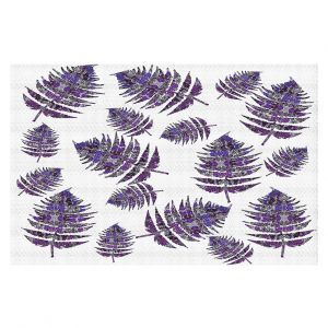 Decorative Floor Covering Mats | Susie Kunzelman - Fern 2 Purple | leaves nature