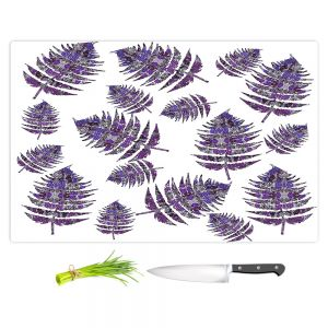 Artistic Kitchen Bar Cutting Boards | Susie Kunzelman - Fern 2 Purple | leaves nature