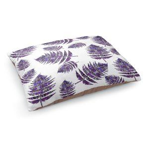 Decorative Dog Pet Beds | Susie Kunzelman - Fern 2 Purple | leaves nature