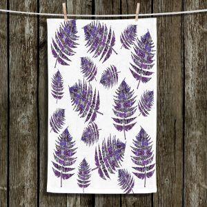 Unique Hanging Tea Towels | Susie Kunzelman - Fern 2 Purple | leaves nature