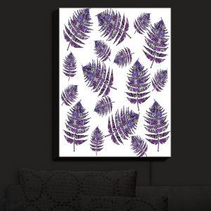 Nightlight Sconce Canvas Light | Susie Kunzelman - Fern 2 Purple