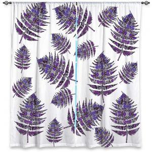 Decorative Window Treatments   Susie Kunzelman - Fern 2 Purple   leaves nature