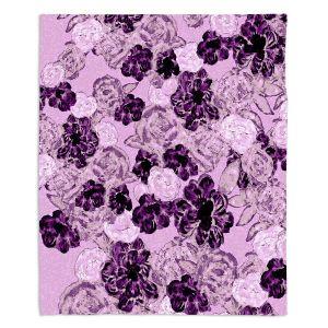 Decorative Fleece Throw Blankets | Susie Kunzelman - Floral Spray | Flower Pattern