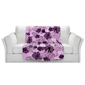 Artistic Sherpa Pile Blankets   Susie Kunzelman - Floral Spray   Flower Pattern