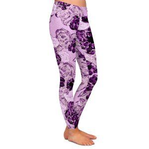 Casual Comfortable Leggings   Susie Kunzelman - Floral Spray   Flower Pattern