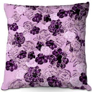 Throw Pillows Decorative Artistic | Susie Kunzelman - Floral Spray | Flower Pattern