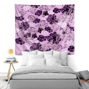 Artistic Wall Tapestry   Susie Kunzelman - Floral Spray   Flower Pattern