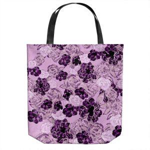 Unique Shoulder Bag Tote Bags | Susie Kunzelman - Floral Spray | Flower Pattern