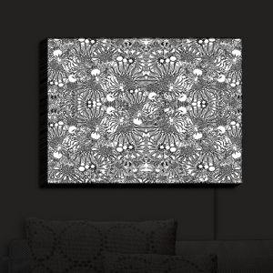 Nightlight Sconce Canvas Light | Susie Kunzelman - Flowers Go Go Black