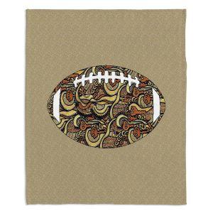 Decorative Fleece Throw Blankets | Susie Kunzelman - Football Away Game