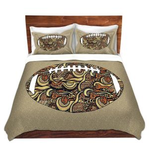 Artistic Duvet Covers and Shams Bedding | Susie Kunzelman - Football Away Game