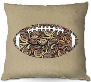 Decorative Outdoor Patio Pillow Cushion | Susie Kunzelman - Football Away Game