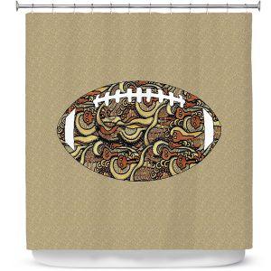 Premium Shower Curtains | Susie Kunzelman - Football Away Game