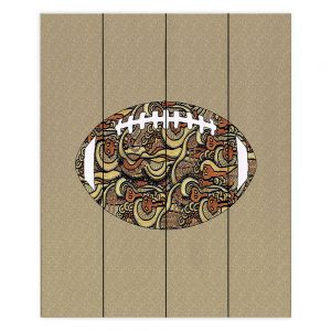 Decorative Wood Plank Wall Art | Susie Kunzelman - Football Away Game