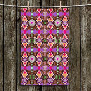 Unique Hanging Tea Towels | Susie Kunzelman - Fractal Purple | Abstract Pattern