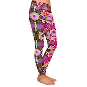 Casual Comfortable Leggings | Susie Kunzelman - Fractal Purple
