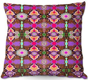 Decorative Outdoor Patio Pillow Cushion   Susie Kunzelman - Fractal Purple