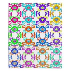 Artistic Sherpa Pile Blankets | Susie Kunzelman - Gem Stone l | Patterns Geometric