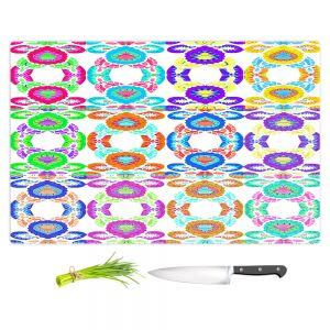 Artistic Kitchen Bar Cutting Boards | Susie Kunzelman - Gem Stone l | Patterns Geometric