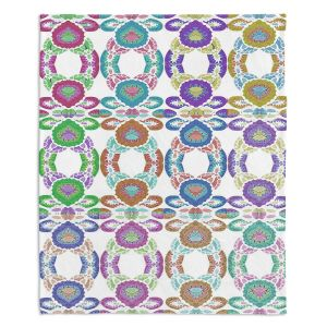 Decorative Fleece Throw Blankets | Susie Kunzelman - Gem Stone ll | Patterns Geometric