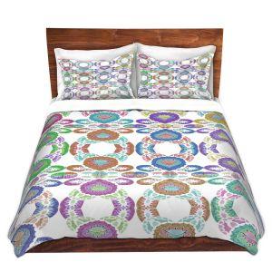 Artistic Duvet Covers and Shams Bedding | Susie Kunzelman - Gem Stone ll | Patterns Geometric