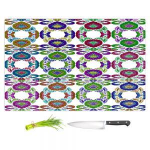 Artistic Kitchen Bar Cutting Boards | Susie Kunzelman - Gem Stone lll | Patterns Geometric