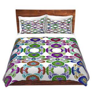 Artistic Duvet Covers and Shams Bedding | Susie Kunzelman - Gem Stone lll | Patterns Geometric