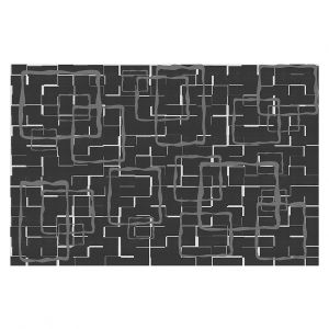 Decorative Floor Covering Mats | Susie Kunzelman - Geometrics Drizzle | Lines square rectangles pattern