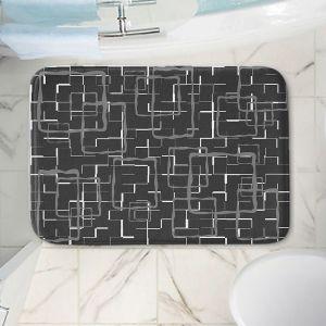 Decorative Bathroom Mats   Susie Kunzelman - Geometrics Drizzle   Lines square rectangles pattern