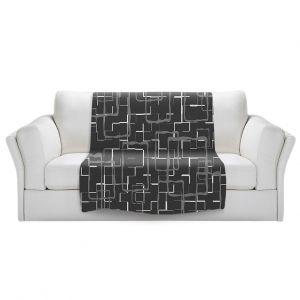 Unique Blanket Fleece Medium from DiaNoche Designs by Susie Kunzelman - Geometrics Drizzle