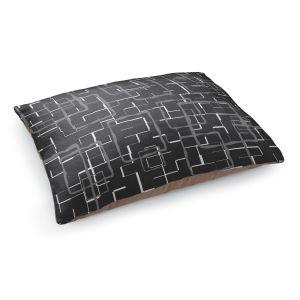 Decorative Dog Pet Beds | Susie Kunzelman - Geometrics Drizzle | Lines square rectangles pattern