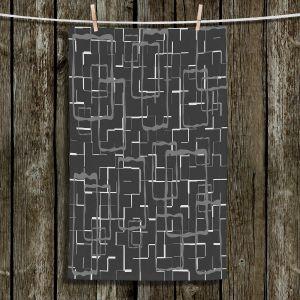 Unique Hanging Tea Towels | Susie Kunzelman - Geometrics Drizzle | Lines square rectangles pattern