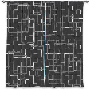 Decorative Window Treatments   Susie Kunzelman - Geometrics Drizzle   Lines square rectangles pattern