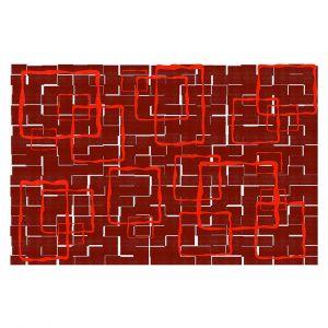 Decorative Floor Covering Mats   Susie Kunzelman - Geometrics Hottie   Lines square rectangles pattern