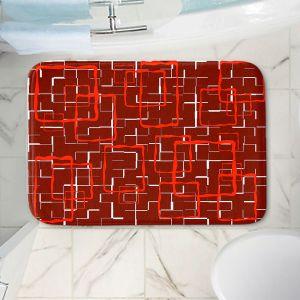 Decorative Bathroom Mats   Susie Kunzelman - Geometrics Hottie   Lines square rectangles pattern