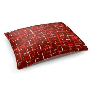Decorative Dog Pet Beds | Susie Kunzelman - Geometrics Hottie | Lines square rectangles pattern