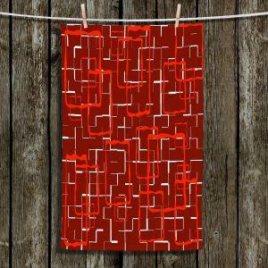 Unique Bathroom Towels | Susie Kunzelman - Geometrics Hottie | Lines square rectangles pattern