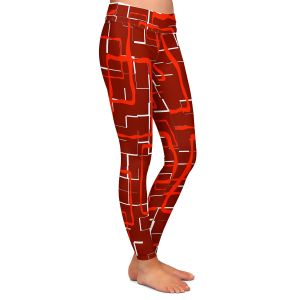 Casual Comfortable Leggings | Susie Kunzelman - Geometrics Hottie | Lines square rectangles pattern