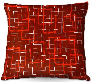 Decorative Outdoor Patio Pillow Cushion | Susie Kunzelman - Geometrics Hottie | Lines square rectangles pattern